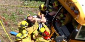 Anaheim School Bus Accident 4-24-2014 Leaves Many Injured