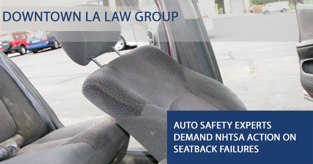 California Seat Back Failure Lawyers