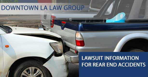 Lawsuit Information For Rear End Accidents