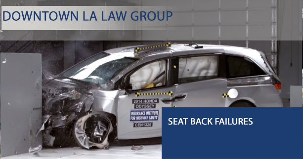 Seat Back Failures: Auto Manufacturers Duty of Care to Consumers