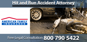 american family insurance hit and run accident lawyer injury compensation bruises sprain sue