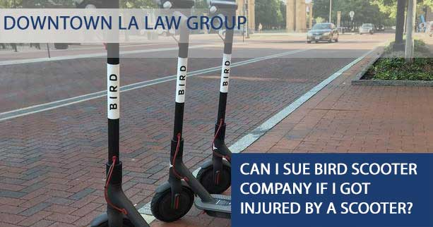 Can I sue Bird Scooter Company If I got injured by a Scooter?