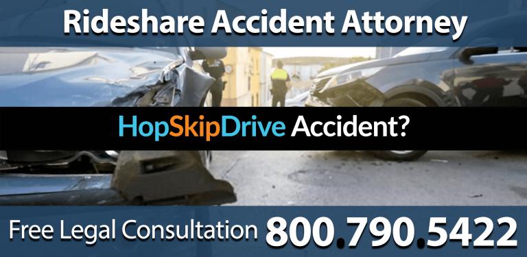hopskipride rideshare accident injury negligence reckless speeding carpool attorney legal consultation compensation