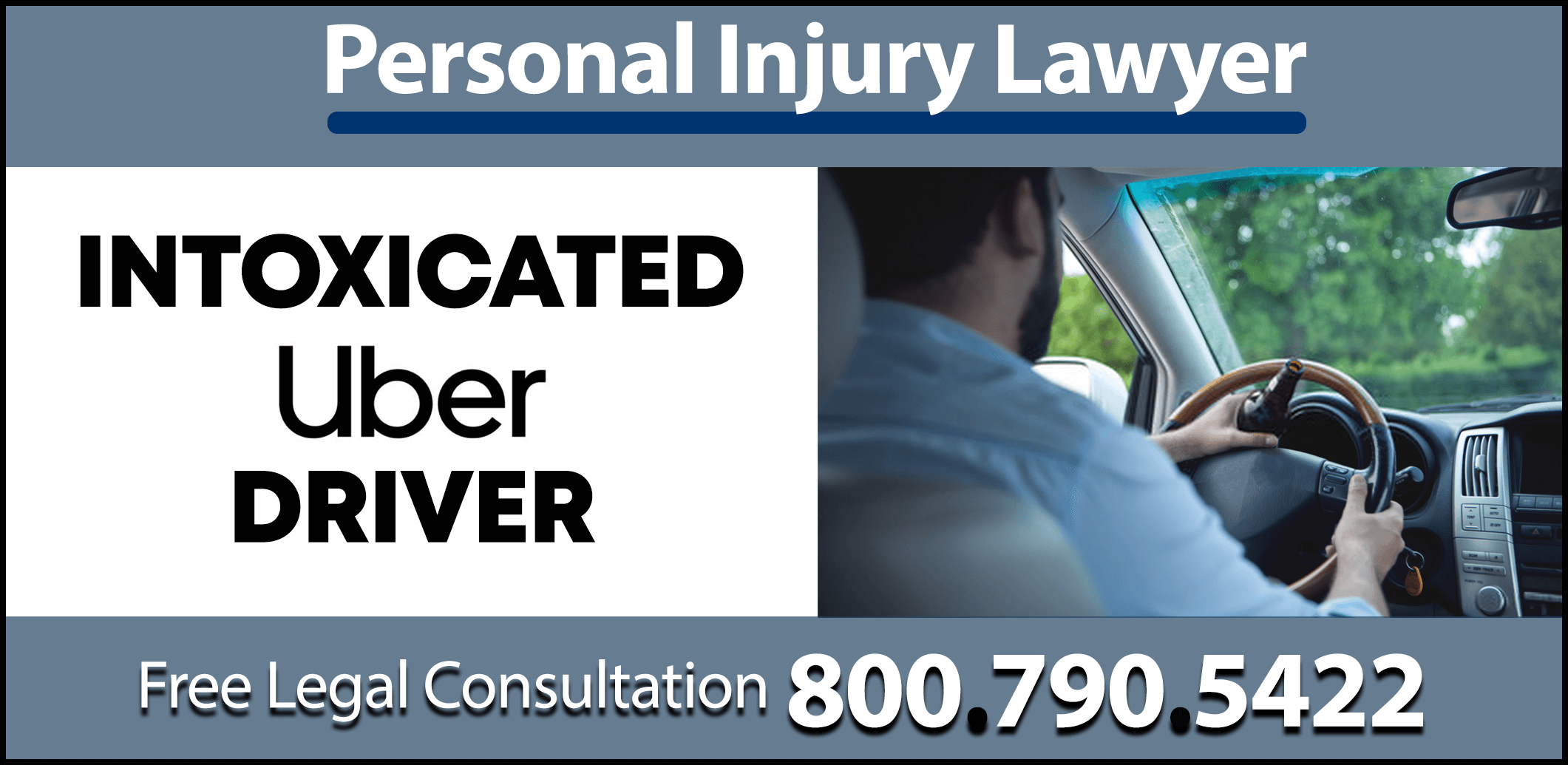 intoxicated uber driver drunk danger safety insurace liable liability compensation concussion sprain fracture sue