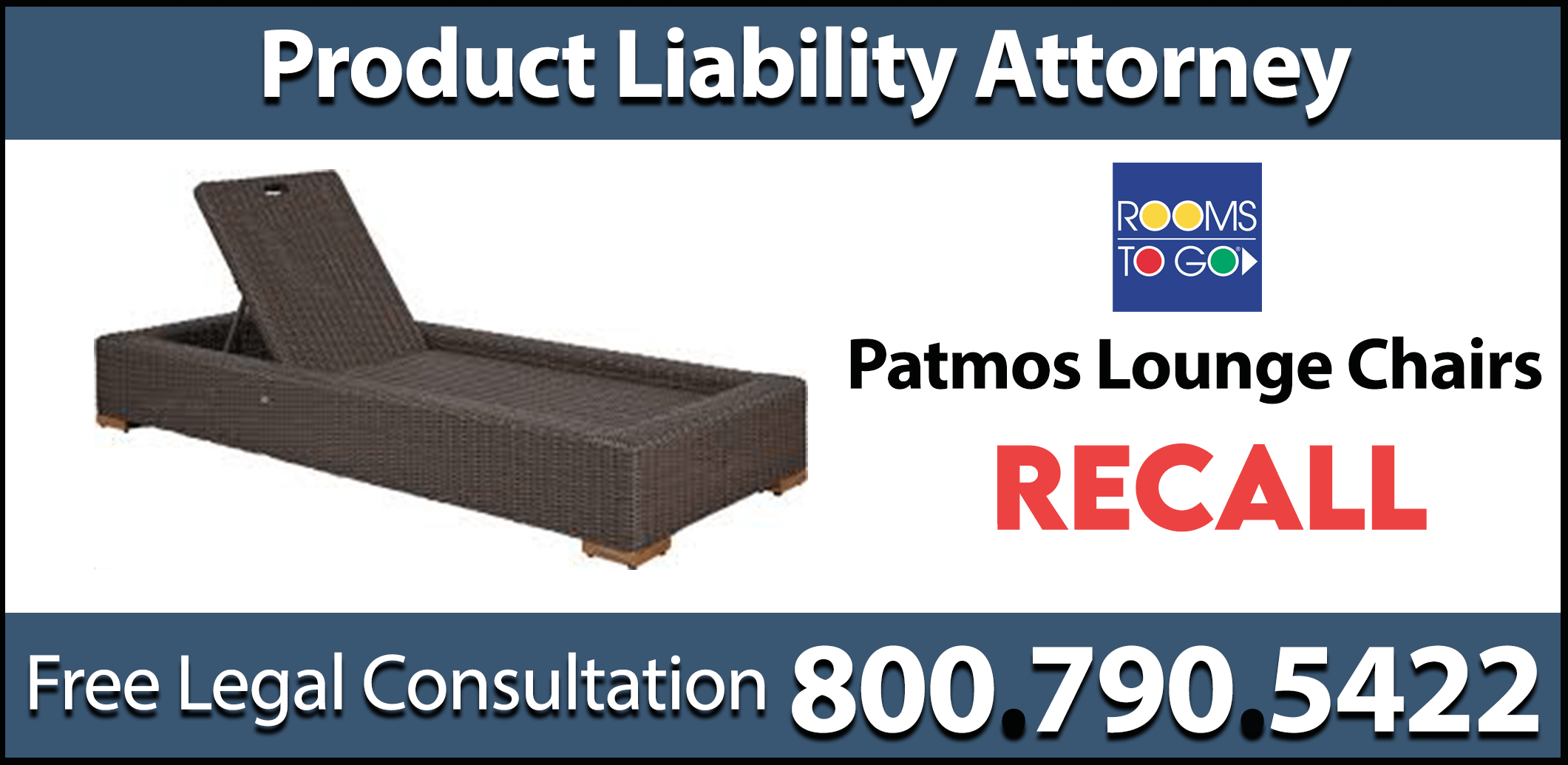 patmos chaise lounge chair recall rooms to go product liability lawsuit compensation lead hazard poison-lawsuit headache seizure expenses lawyer sue