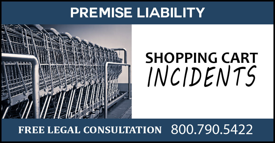 shopping cart incidents premise liability compensation medical negligence sue lawyer attorney