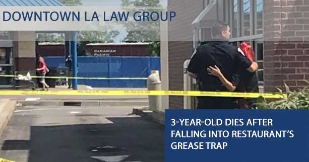 Toddler Dies after Falling into Restaurant's Grease Trap
