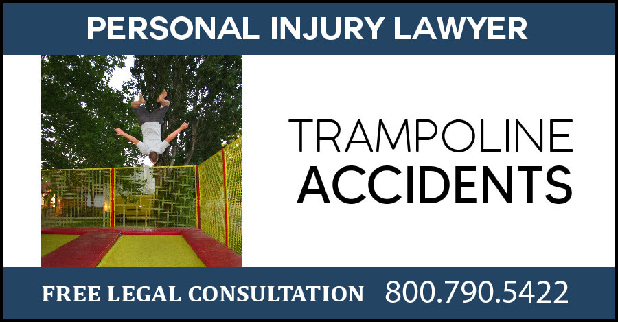 trampoline accidents personal injury accident incident injury broken bones compensation sue lawyer los angeles